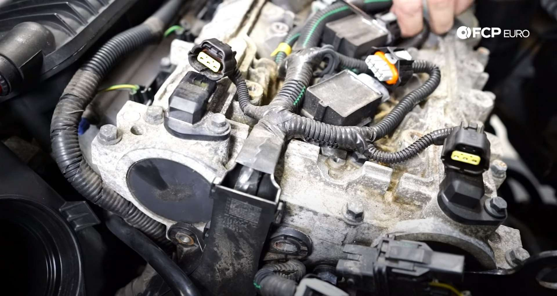 DIY Volvo P1 Timing Belt Replacement unplugging the ignition harness