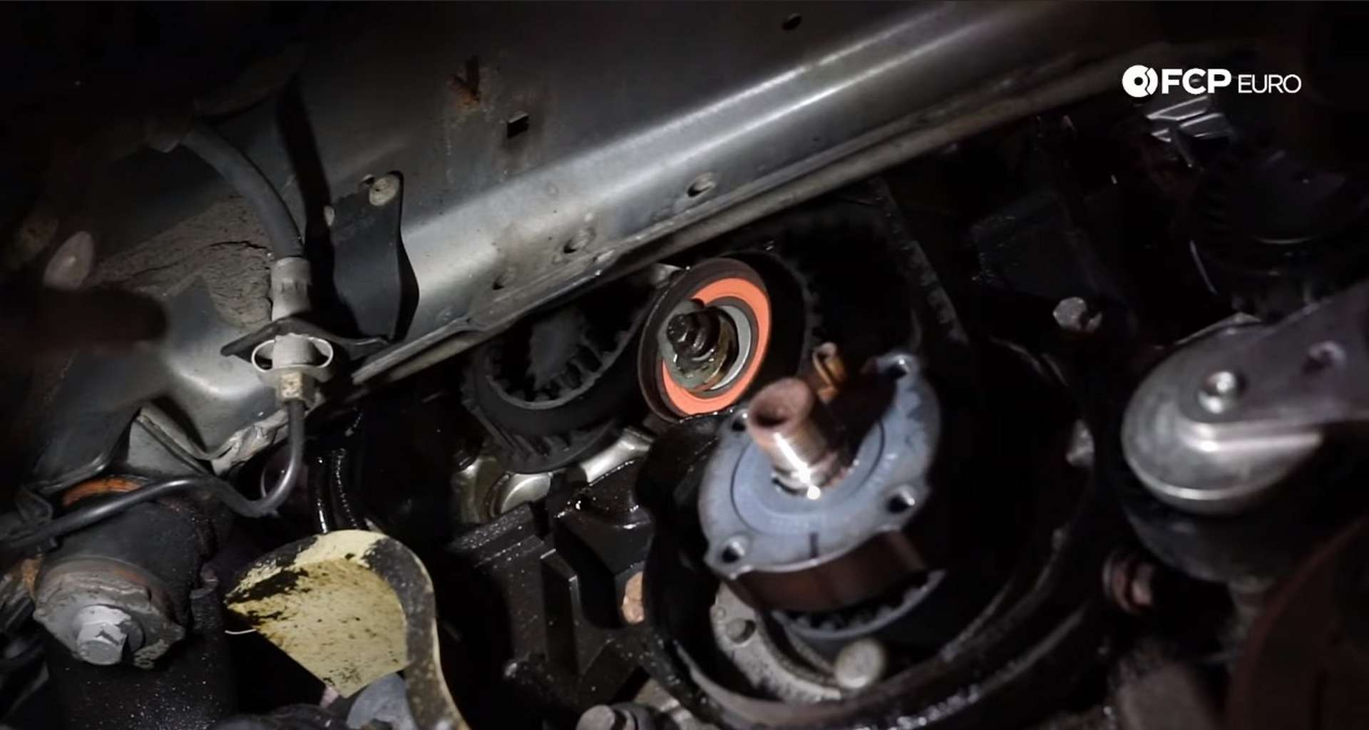 DIY Volvo P1 Timing Belt Replacement removing the timing belt
