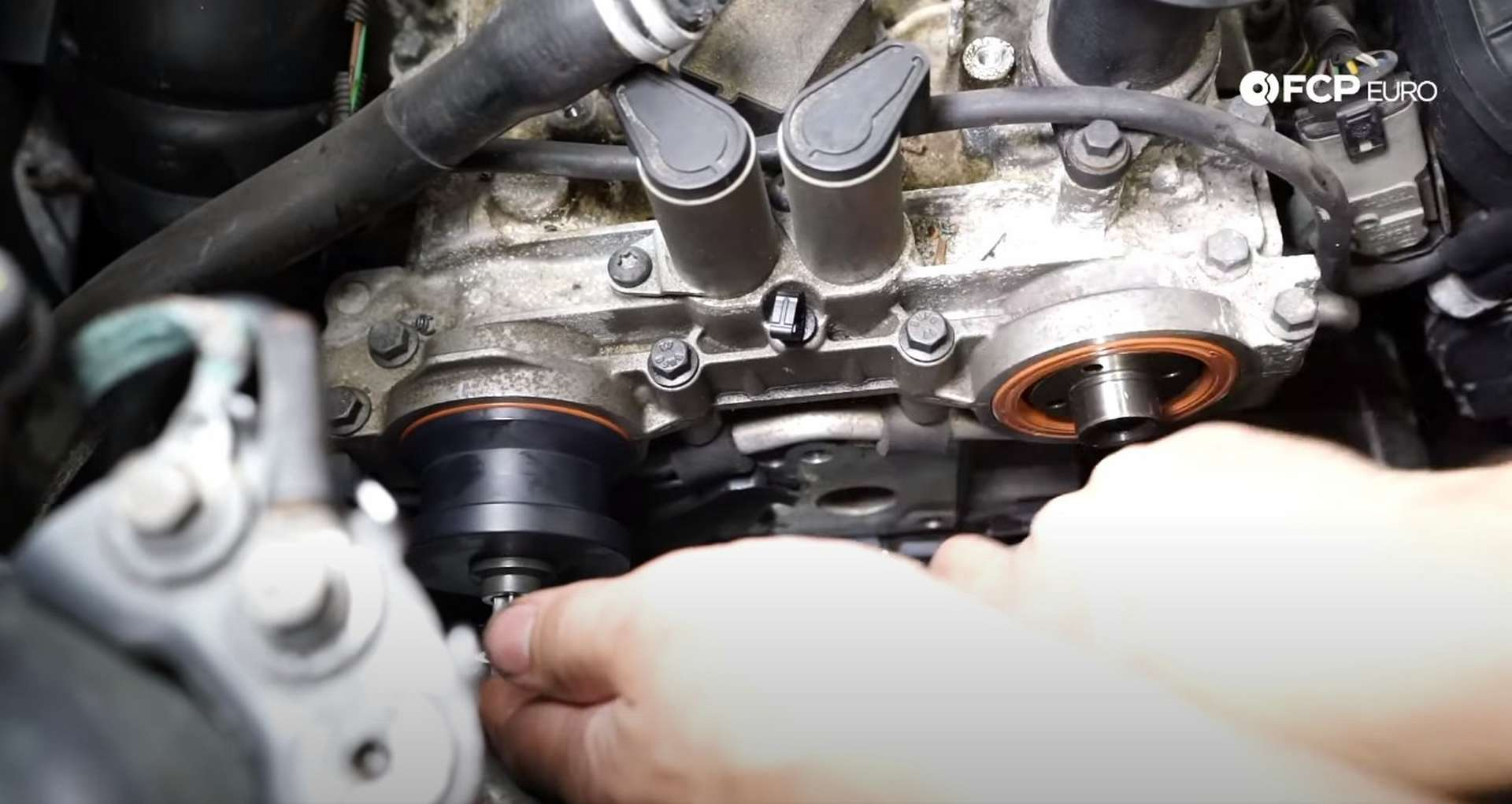 DIY Volvo P1 Timing Belt Replacement installing the new camshaft seals