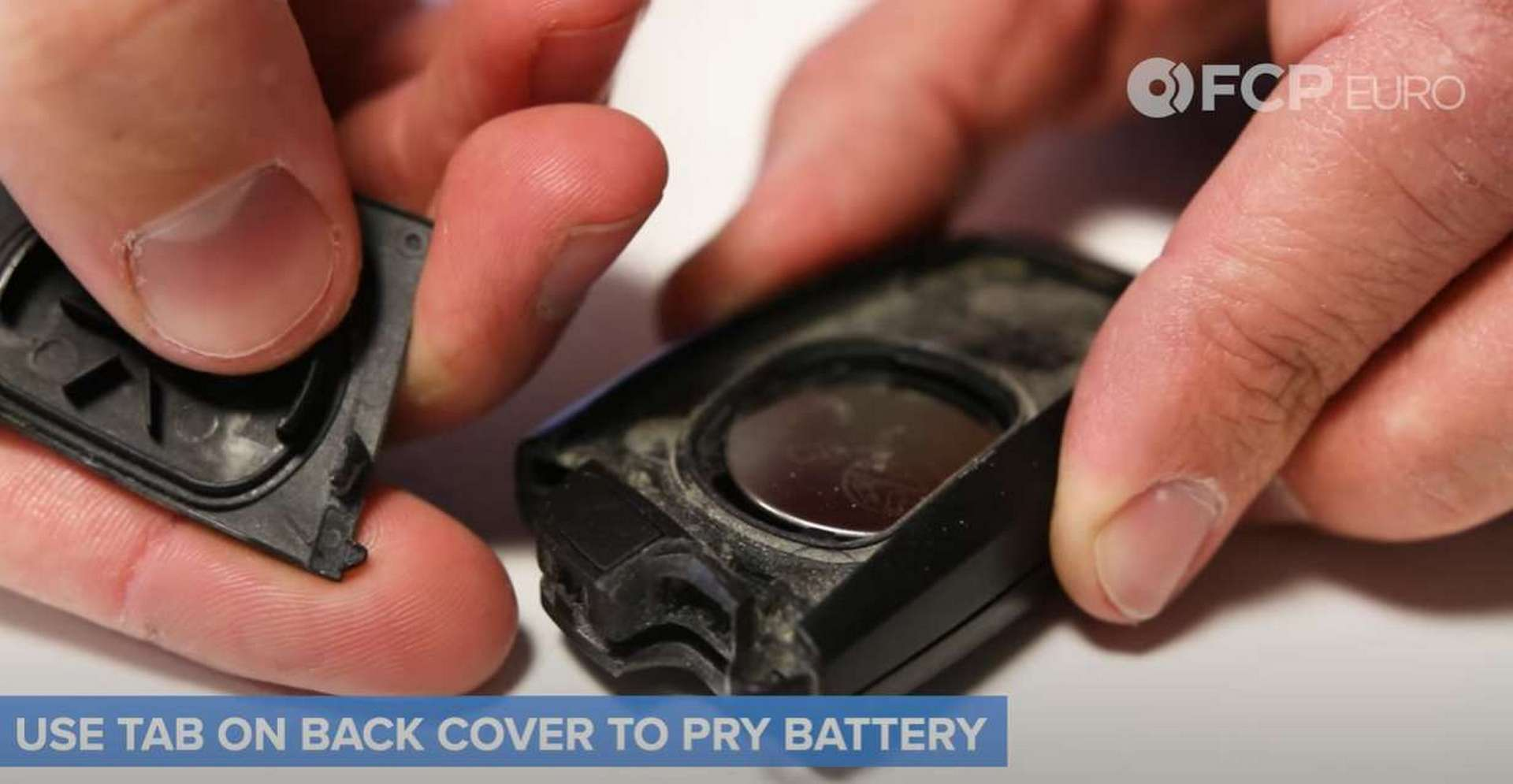 BMW F30 Key Fob Battery Replacement removing the emergency key