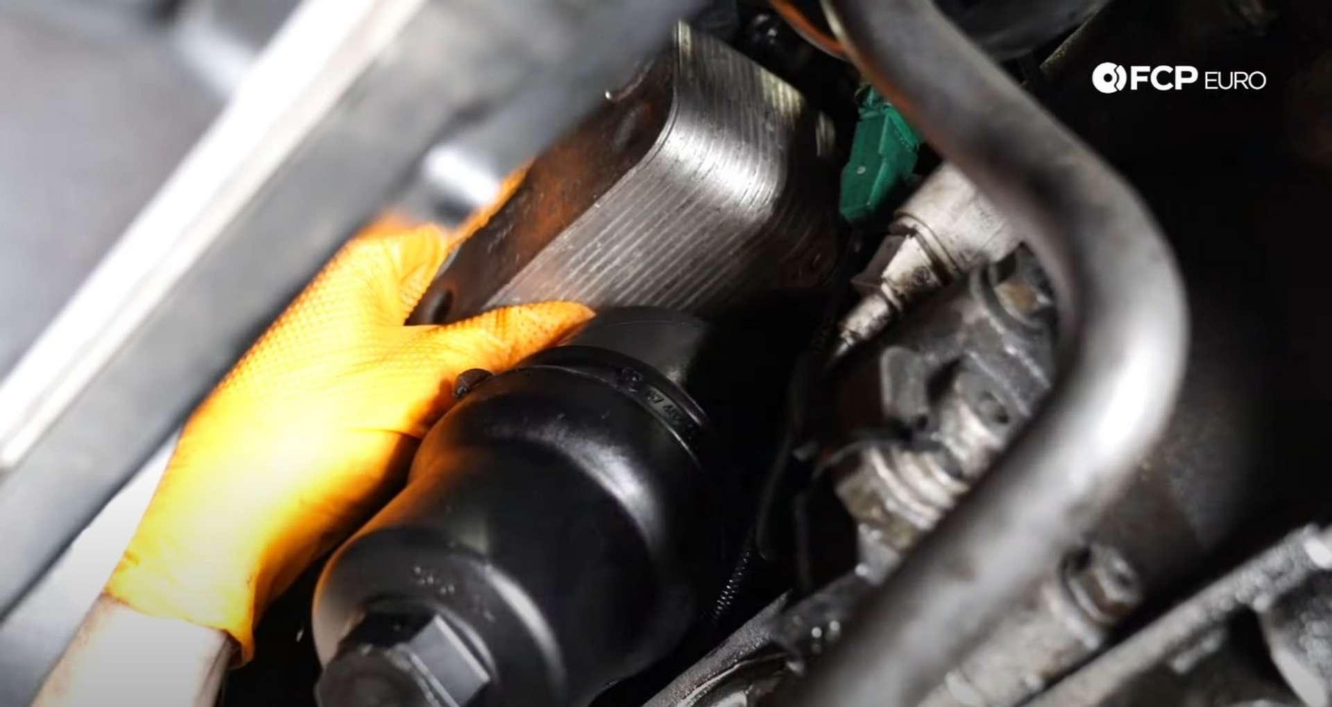 28-DIY-Mk5-GTI-Oil-FIlter-Housing_Reinstalling-Oil-Cooler