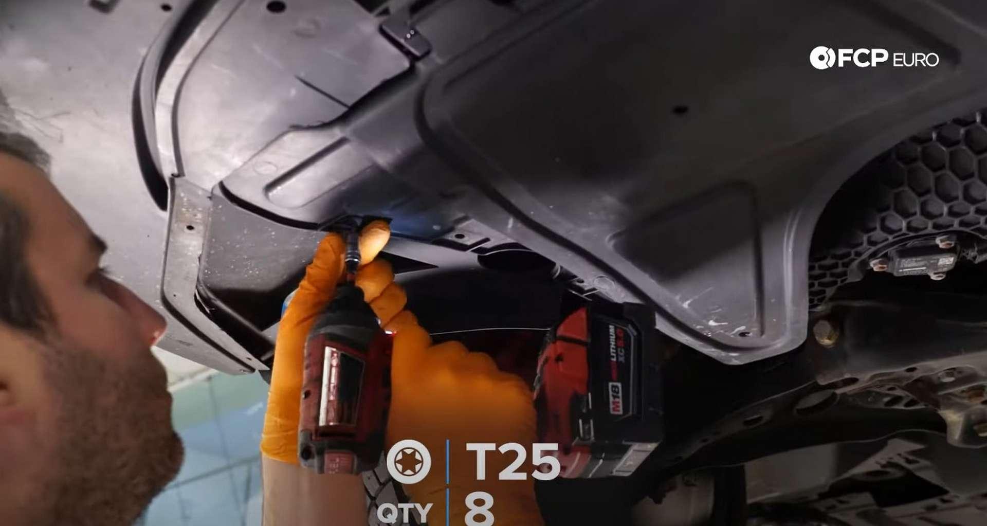 DIY MK7 VW GTI Turbocharger Upgrade removing the splash shield