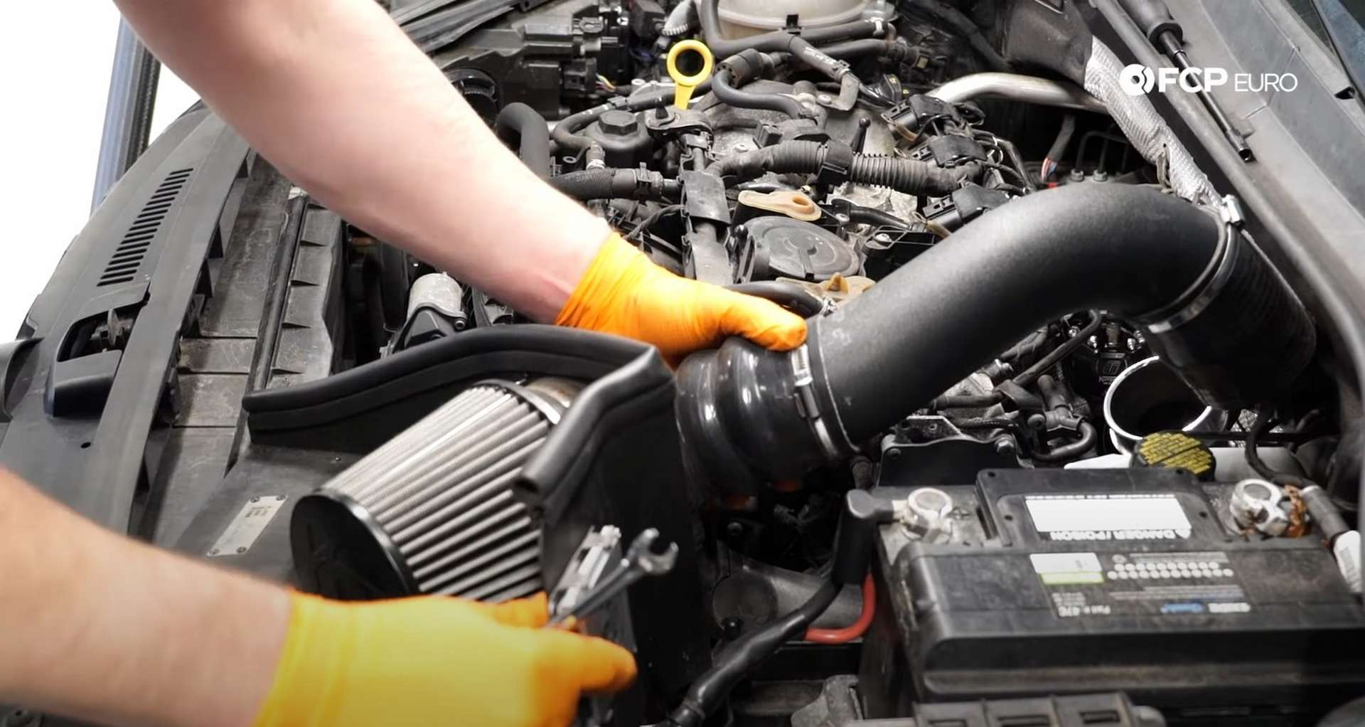DIY MK7 VW GTI Turbocharger Upgrade removing the intake