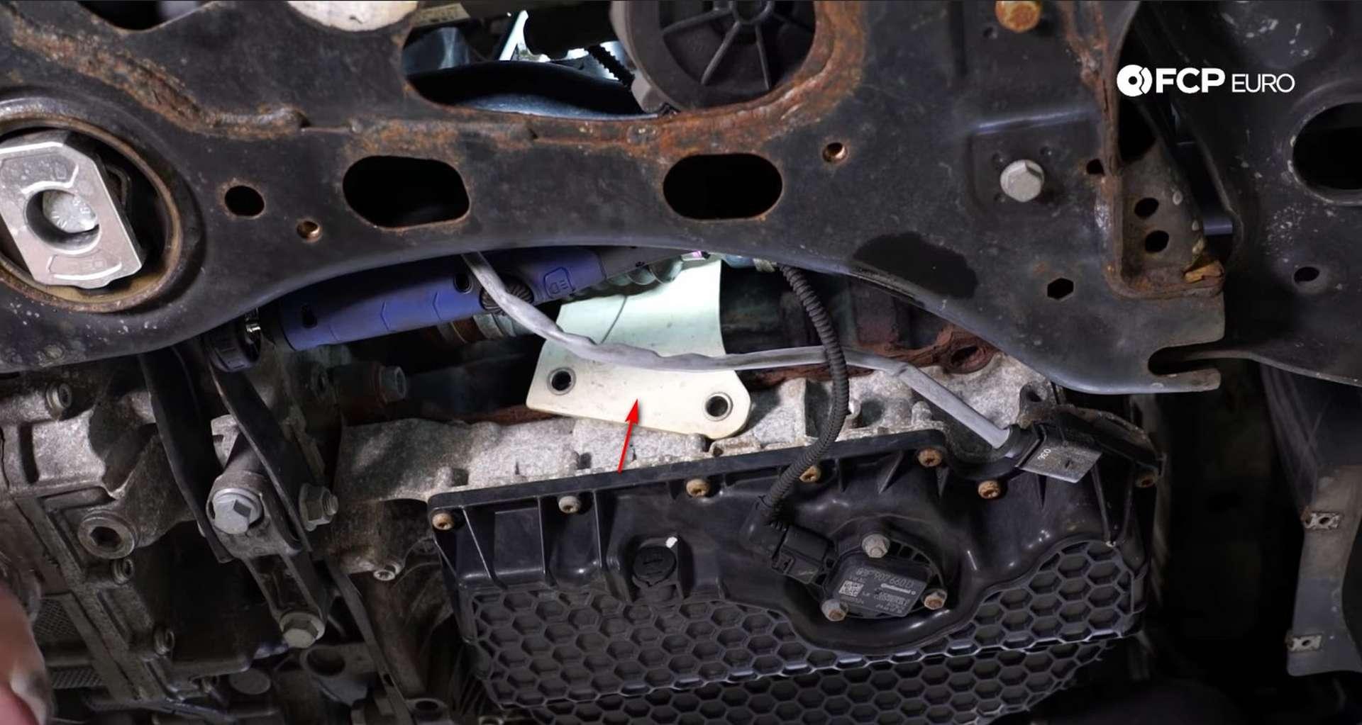 DIY MK7 VW GTI Turbocharger Upgrade the axle's heat shield