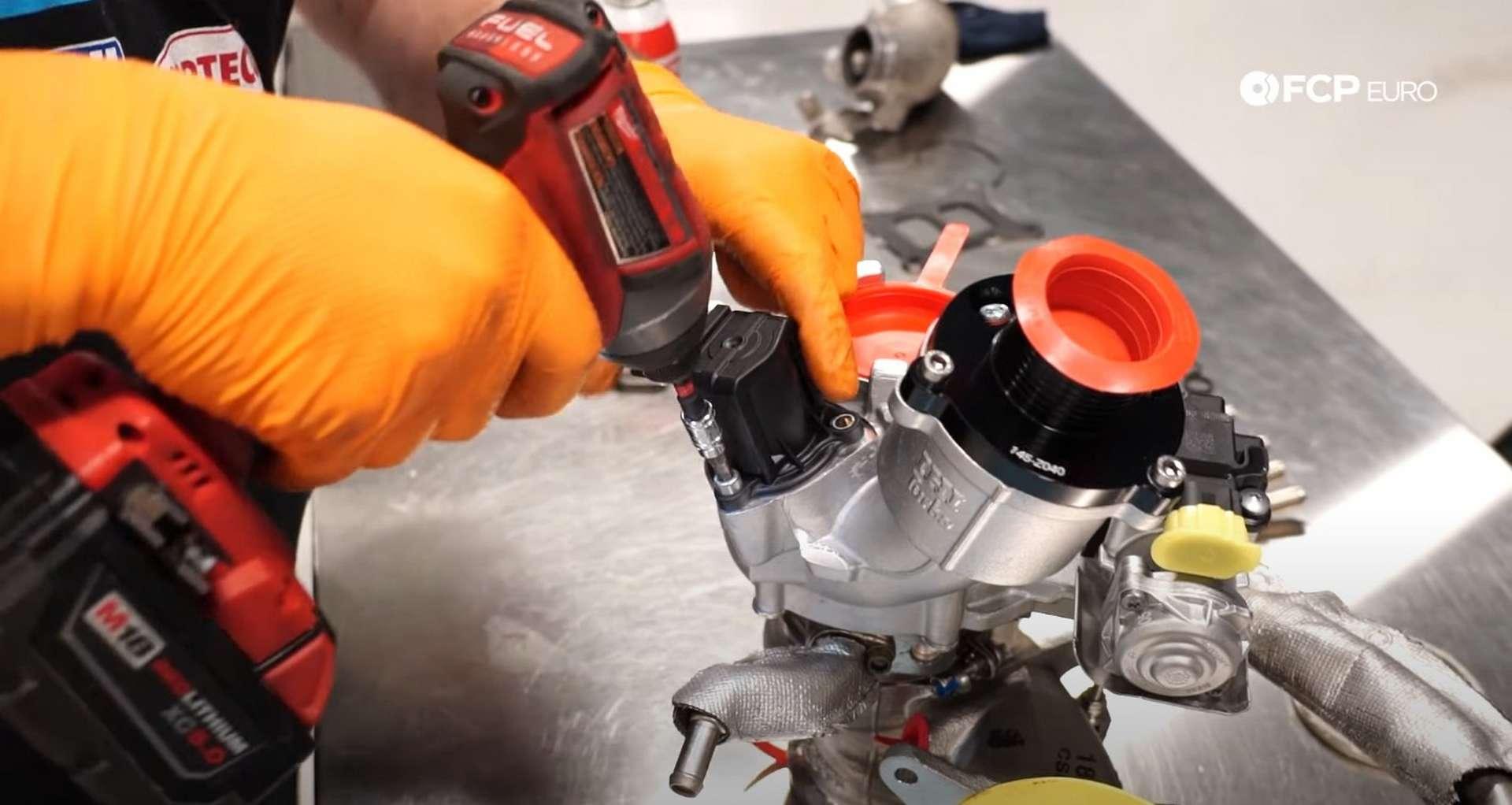 DIY MK7 VW GTI Turbocharger Upgrade removing the diverter valve