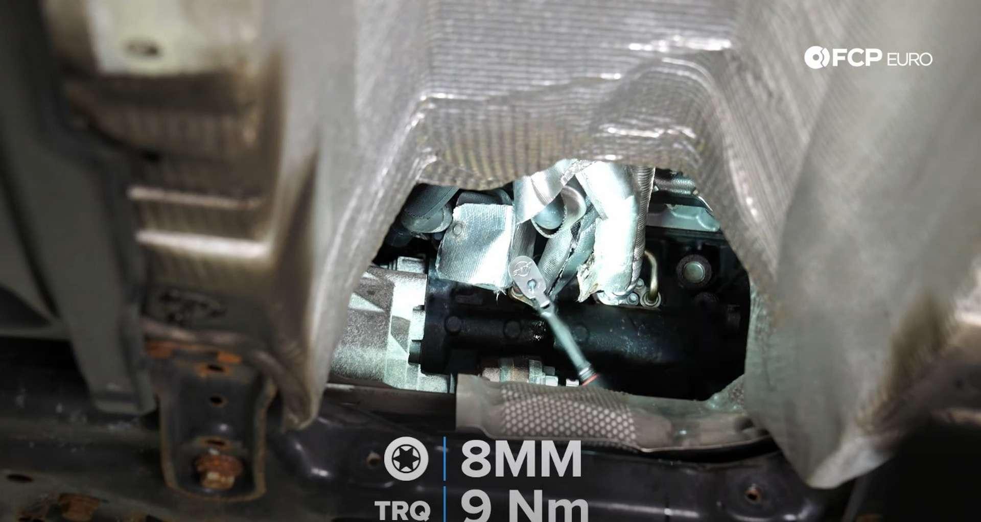 DIY MK7 VW GTI Turbocharger Upgrade installing the oil return line