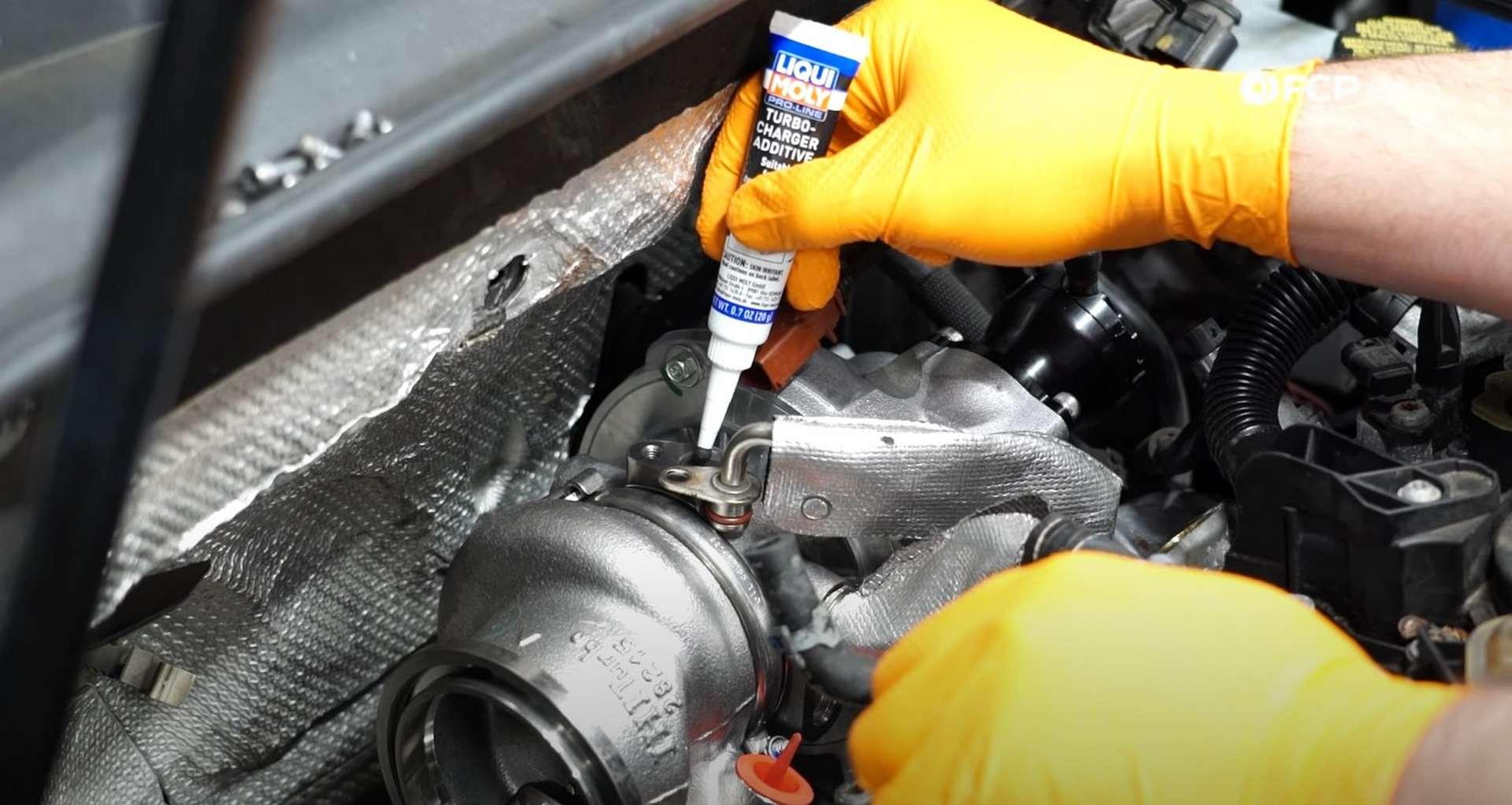 DIY MK7 VW GTI Turbocharger Upgrade adding the Liqui-Moly additive