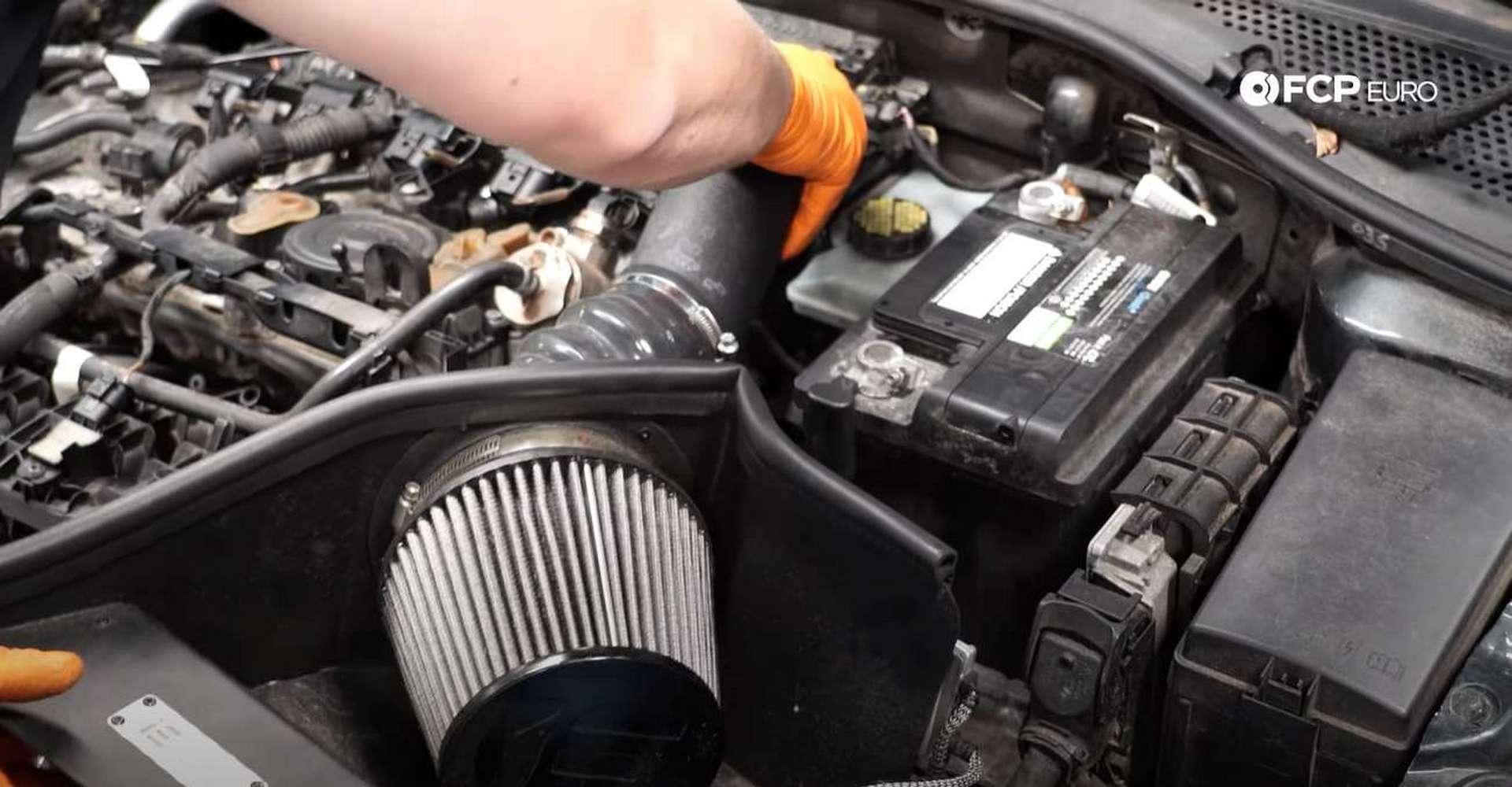 DIY MK7 VW GTI Turbocharger Upgrade refitting the intake