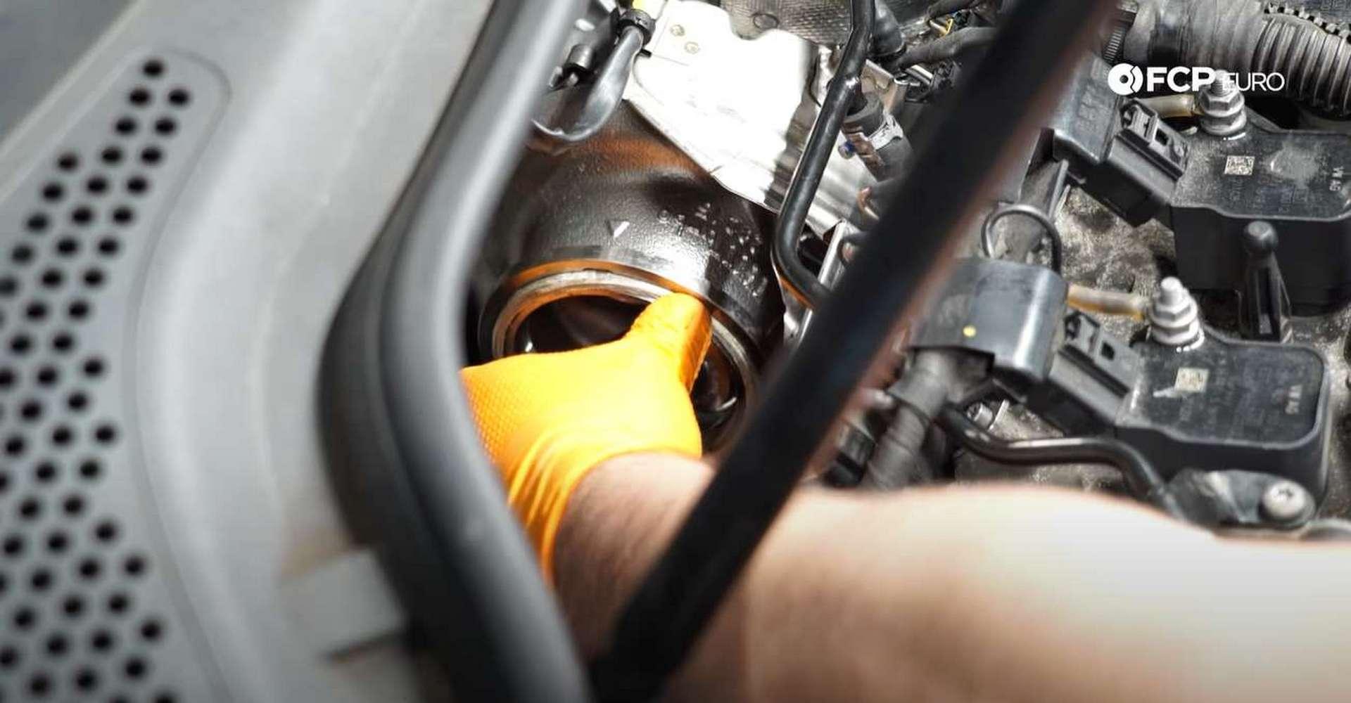 DIY MK7 VW GTI Turbocharger Upgrade installing the new exhaust housing gasket