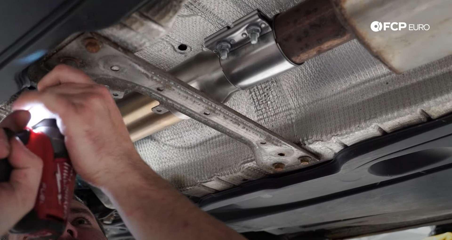 DIY MK7 VW GTI Turbocharger Upgrade refitting the chassis brace
