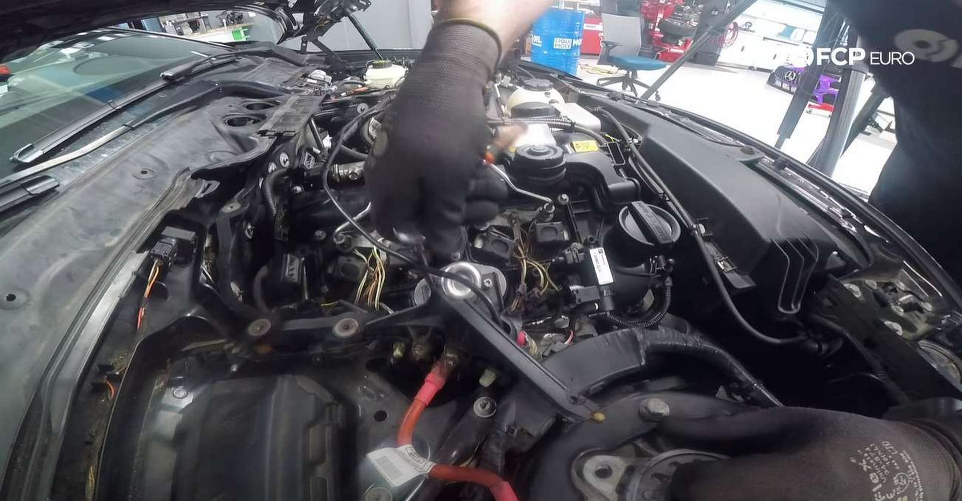 DIY BMW F30 High-Pressure Fuel Pump Replacement removing the fuel pump
