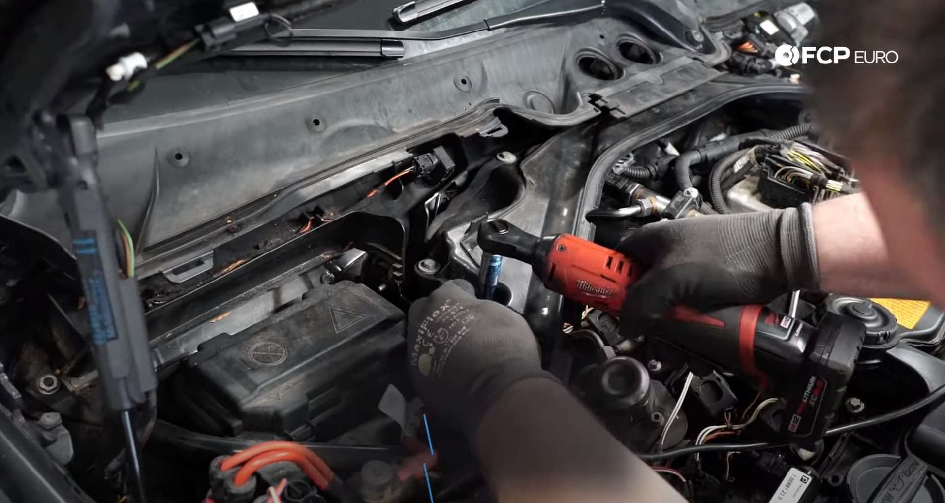DIY BMW F30 Fuel Injector Replacement removing the rear engine cover