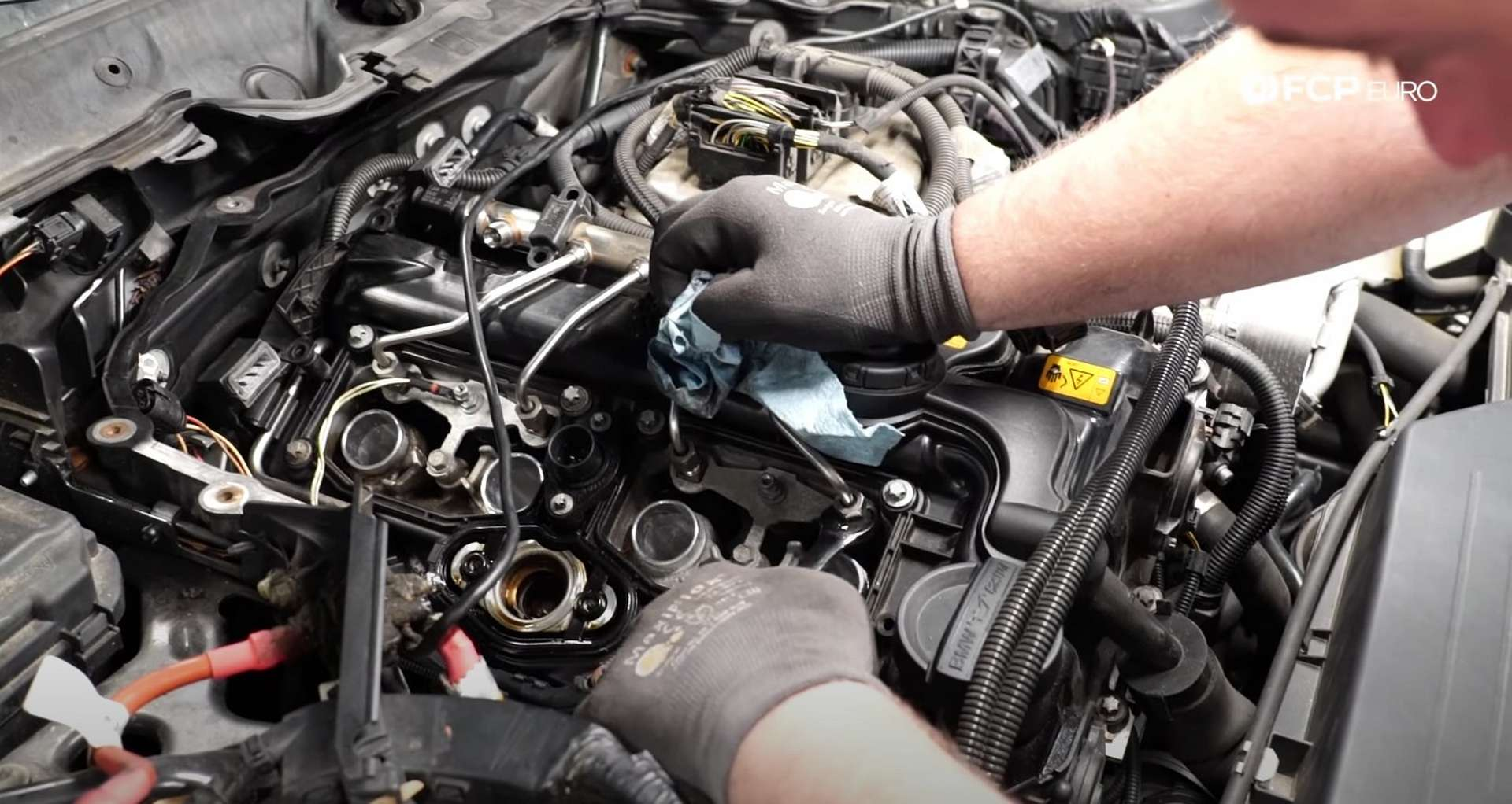 DIY BMW F30 Fuel Injector Replacement high-pressure feed disconnected at both ends