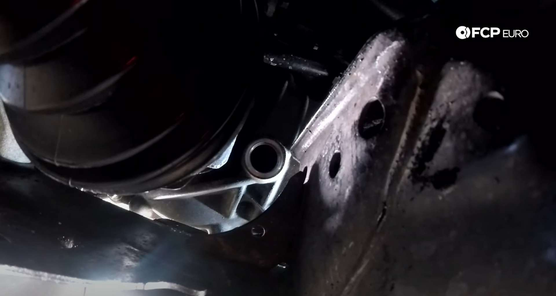 DIY BMW F30 Front Differential Fluid Replacement fill plug location after removal