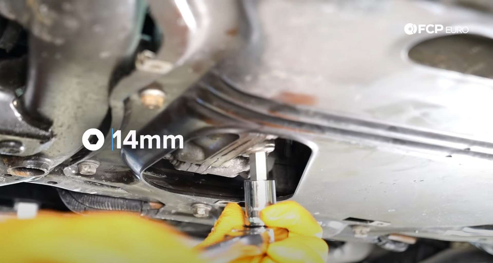 DIY BMW F30 Front Differential Fluid Replacement removing the drain plug
