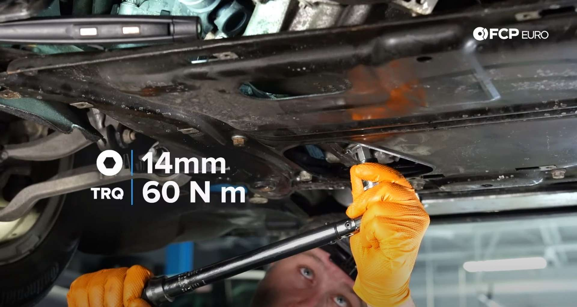 DIY BMW F30 Front Differential Fluid Replacement replacing the drain plug