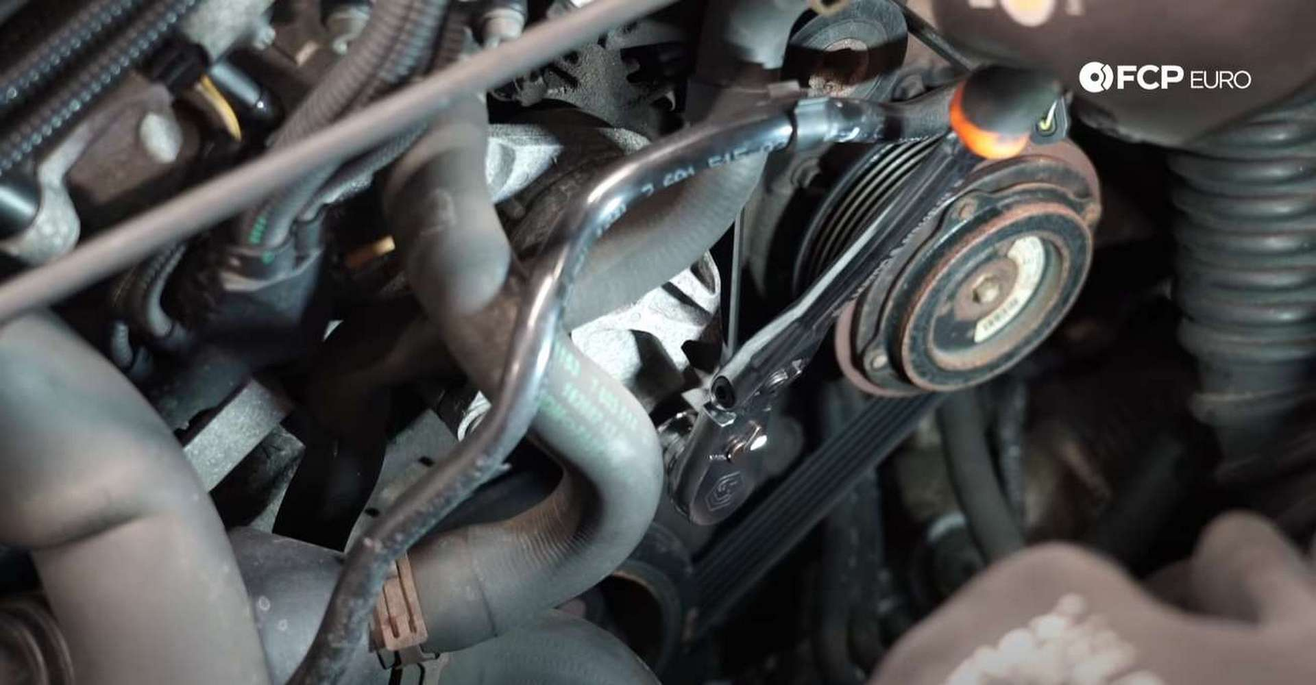 DIY BMW F30 Serpentine Belt Replacement rotating the tensioner
