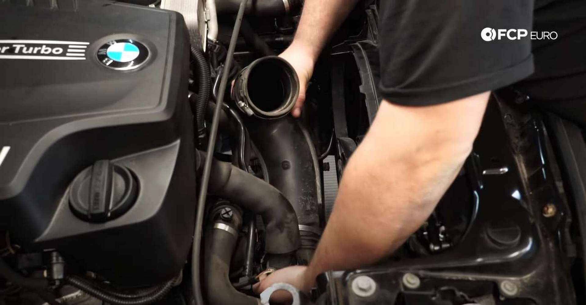 DIY BMW F30 Serpentine Belt Replacement fitting the intake silencer