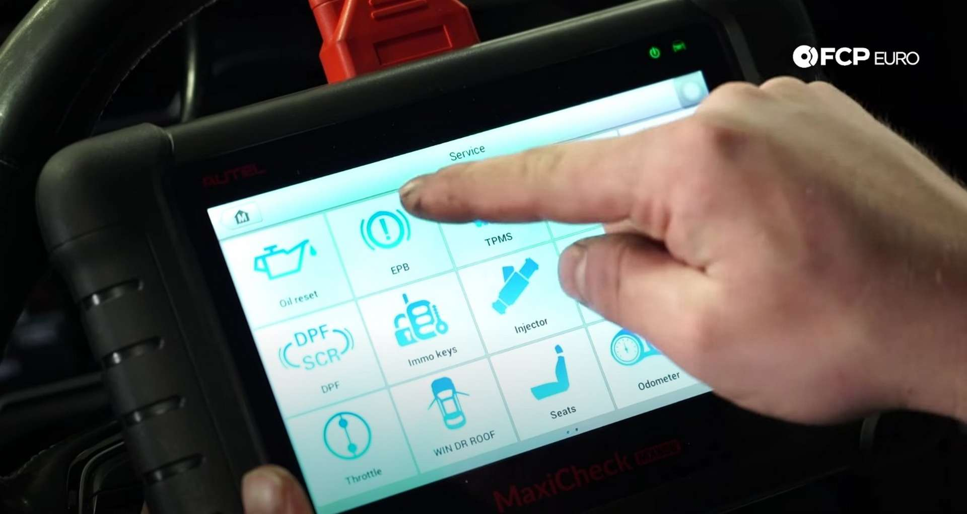 DIY Audi B8 S4 Rear Brake Service selecting EPB on the scan tool