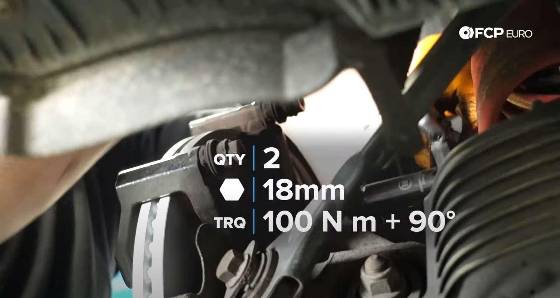 DIY Audi B8 S4 Rear Brake Service torquing the caliper bracket bolts