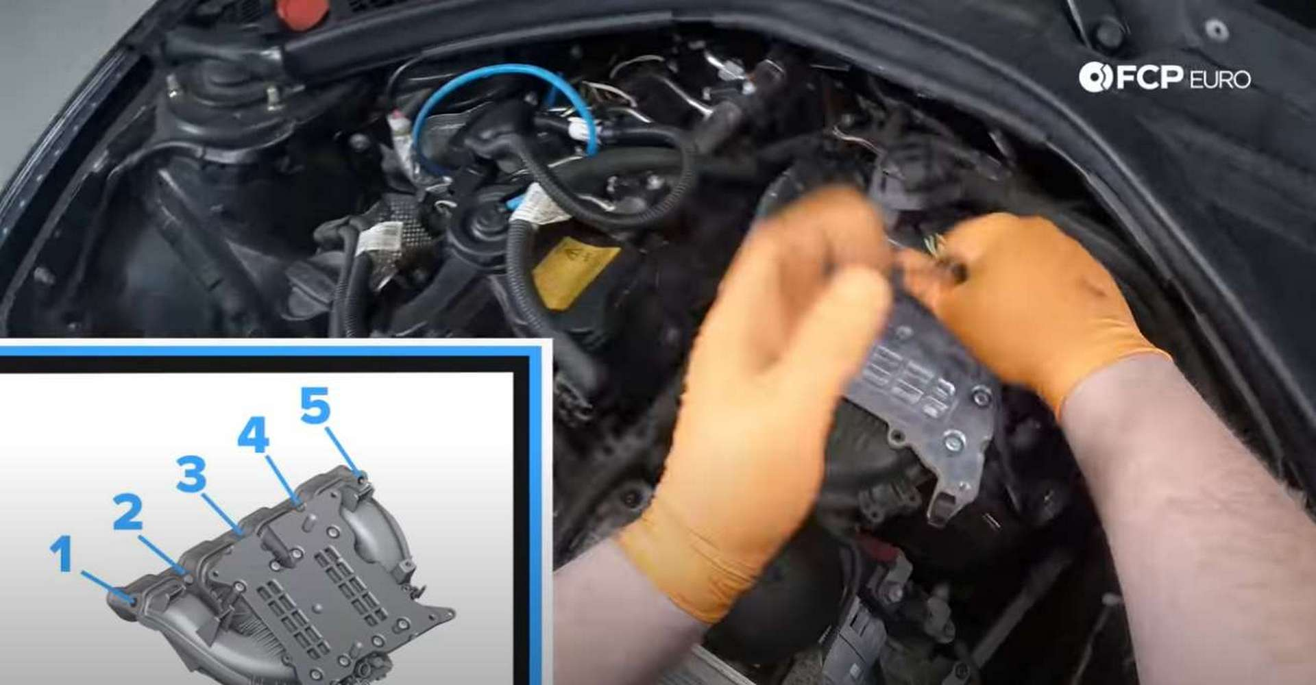 DIY BMW F30 Oil Filter Housing Gasket Replacement intake manifold bolt location