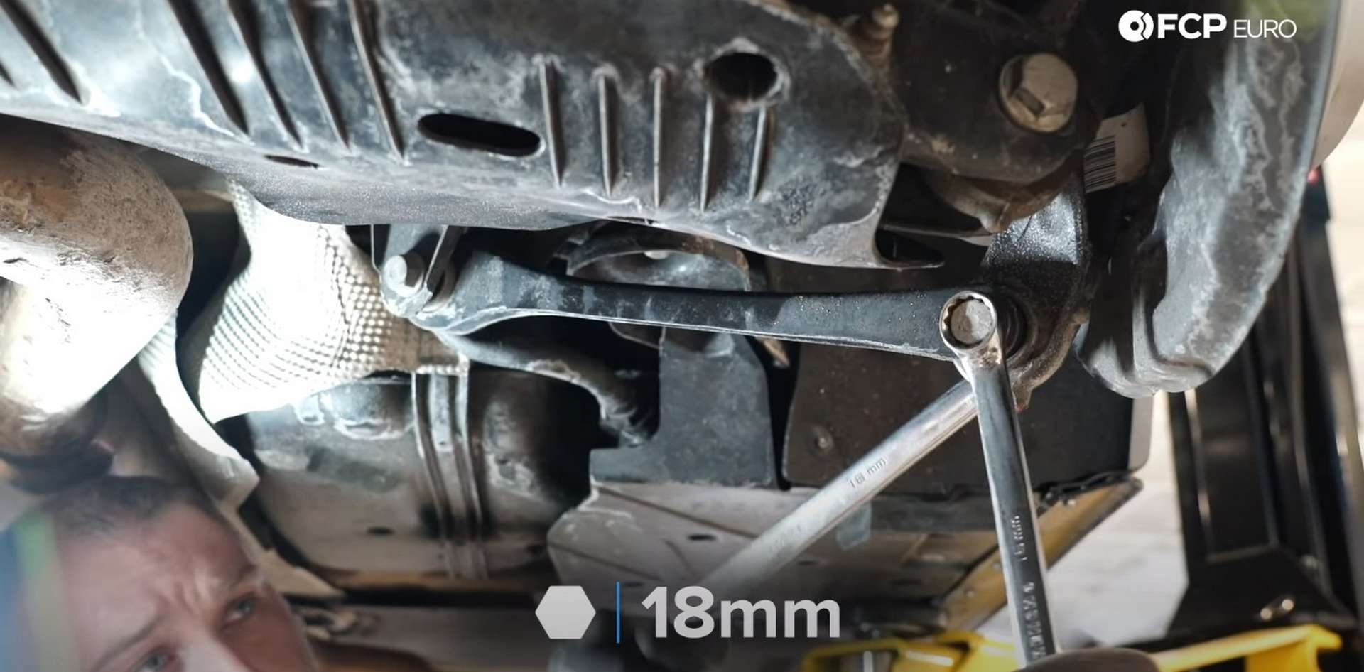 DIY BMW F30 Rear Control Arm Replacement removing the trailing arm bolts