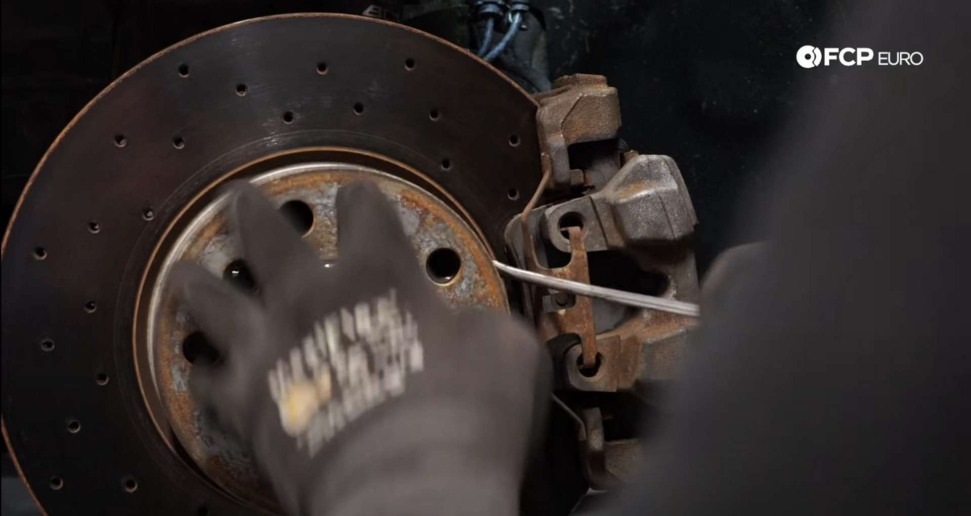 02-DIY-BMW-F30-Front-Brake-Service_Removing-The-Caliper