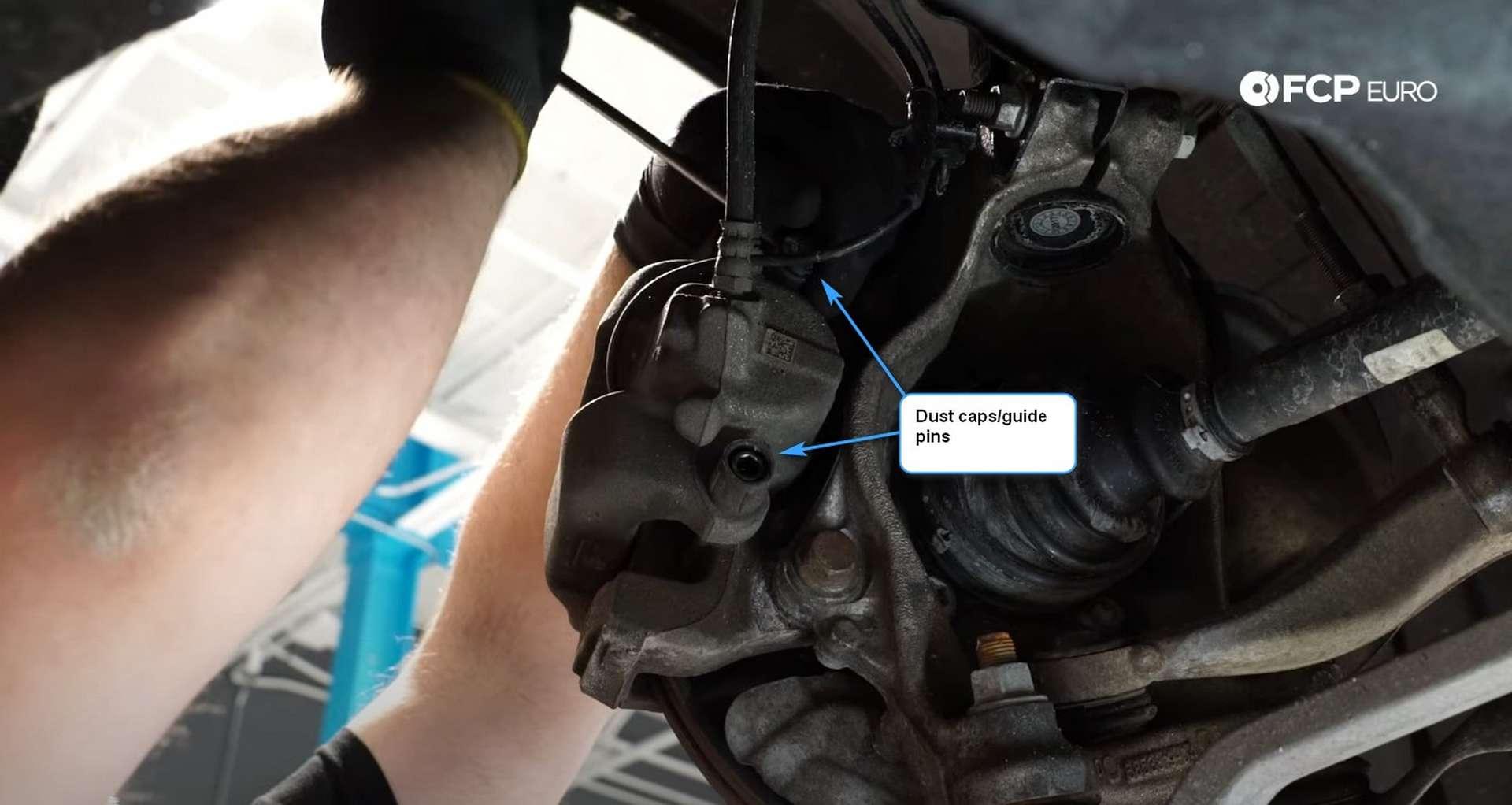 03-DIY-BMW-F30-Front-Brake-Service_Removing-The-Caliper
