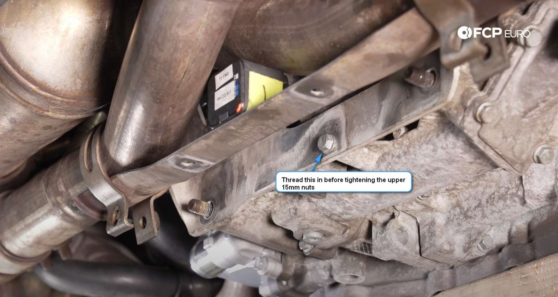 DIY Porsche 996 911 Water Pump And Thermostat Replacement alignment bolt installed