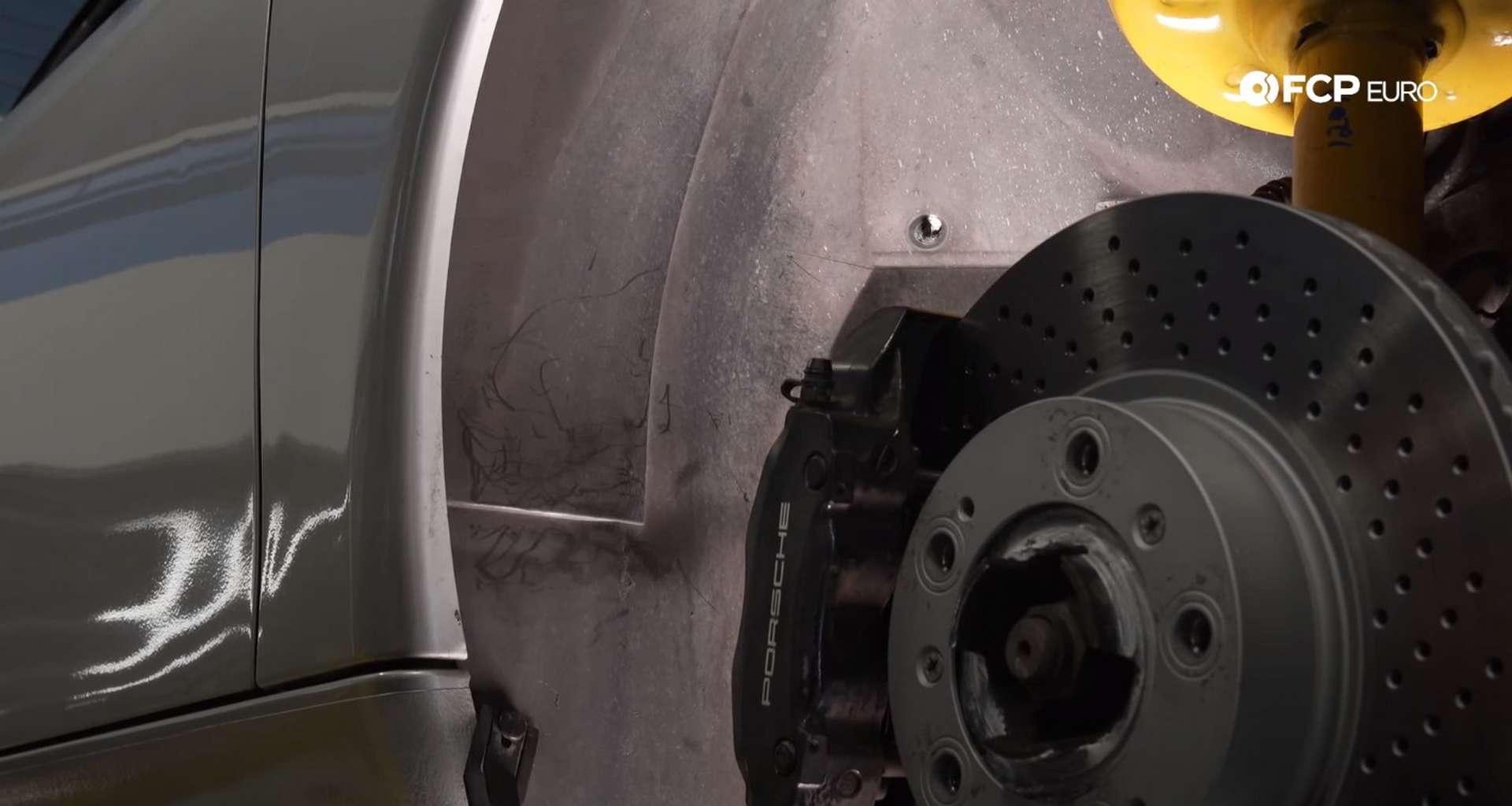 DIY Porsche 996 Radiator Replacement rear fender liner hardware locations