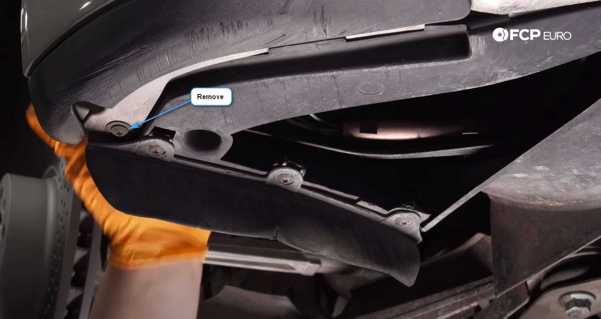 DIY Porsche 996 Radiator Replacement fender liner to bumper screws