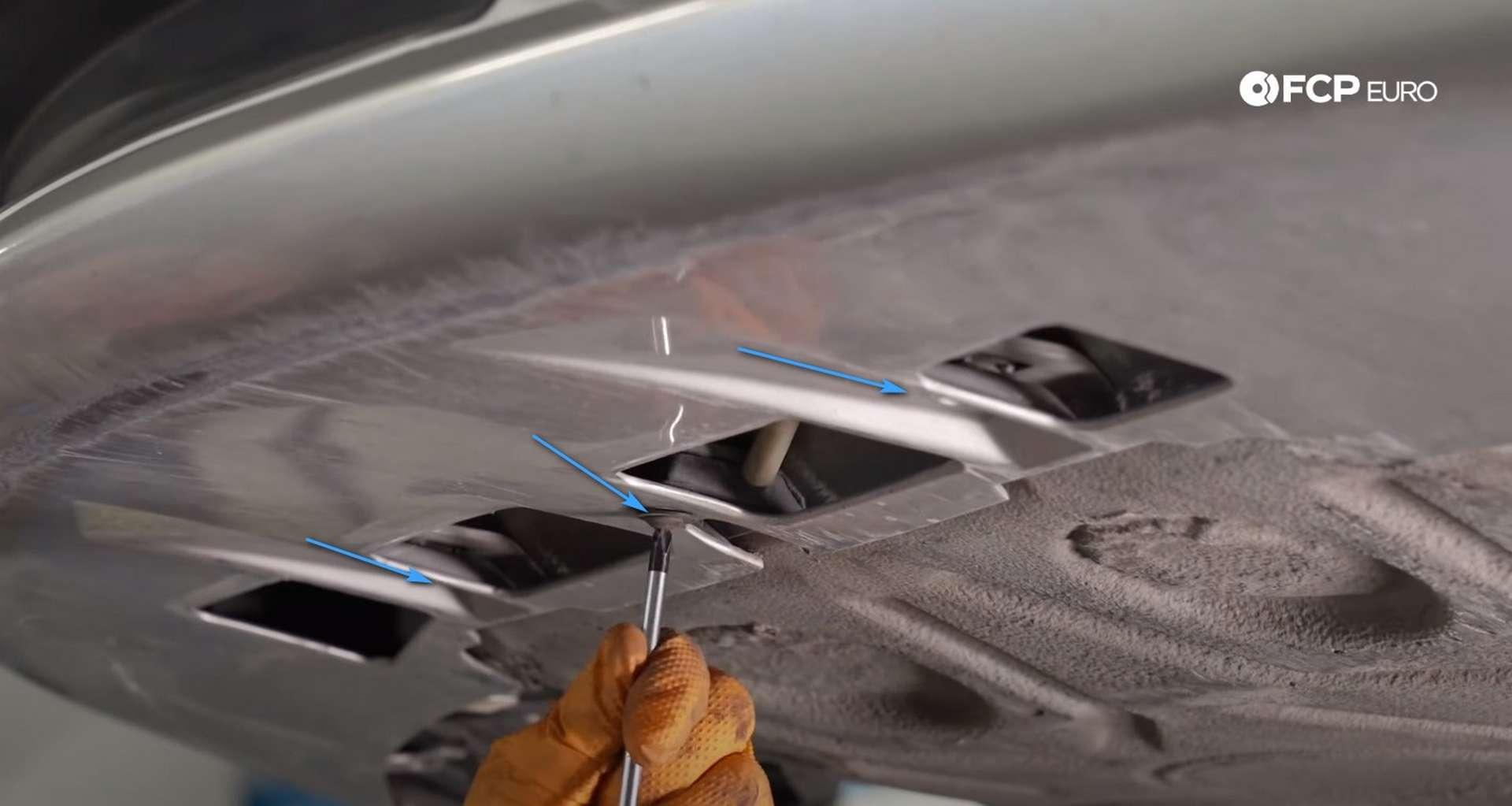 DIY Porsche 996 Radiator Replacement remaining bumper cover screws