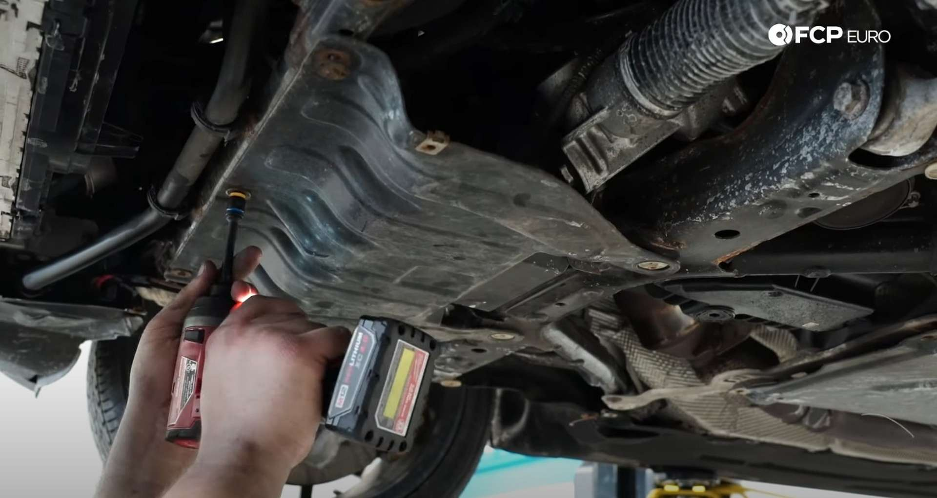 DIY BMW F30 Oil Filter Housing Gasket Replacement fitting the power steering motor's shield