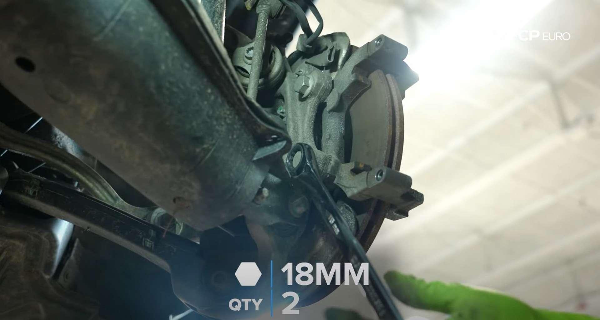 DIY Mercedes W205 Rear Brake Service removing the caliper bracket