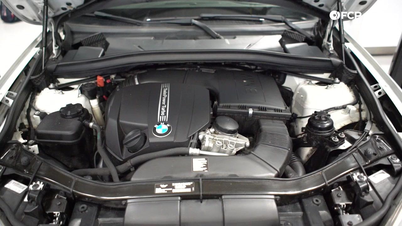 EVERGREEN BMW E90 VS F30 engine bay shot