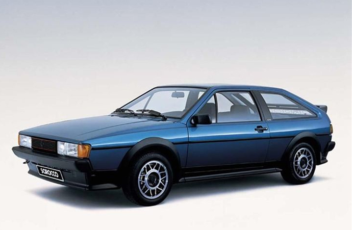 Affordable Vintage Models VW Scirocco front 3-quarter