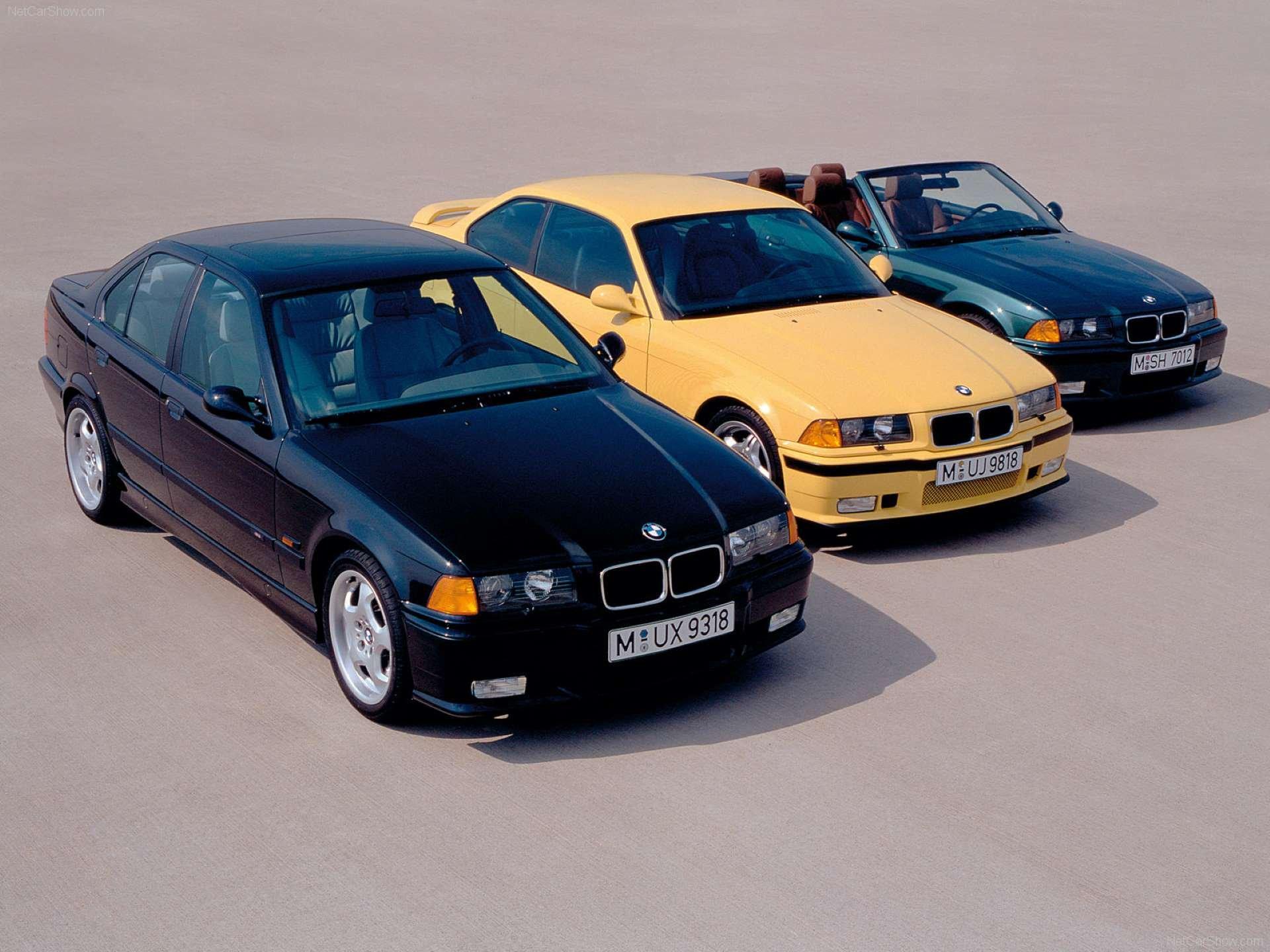 Pandemic Price Appreciation BMW E36 group shot