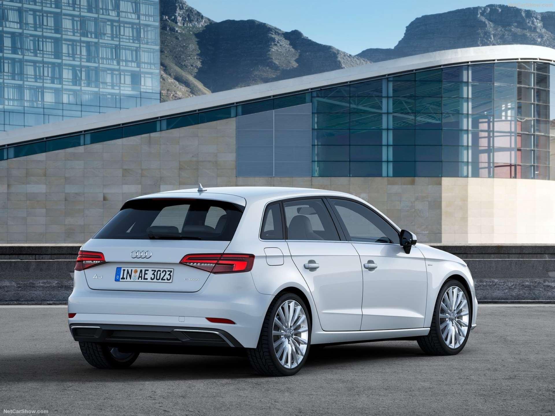 Best FWD Under $25k Audi A3 Sportback e-tron rear three-quarter