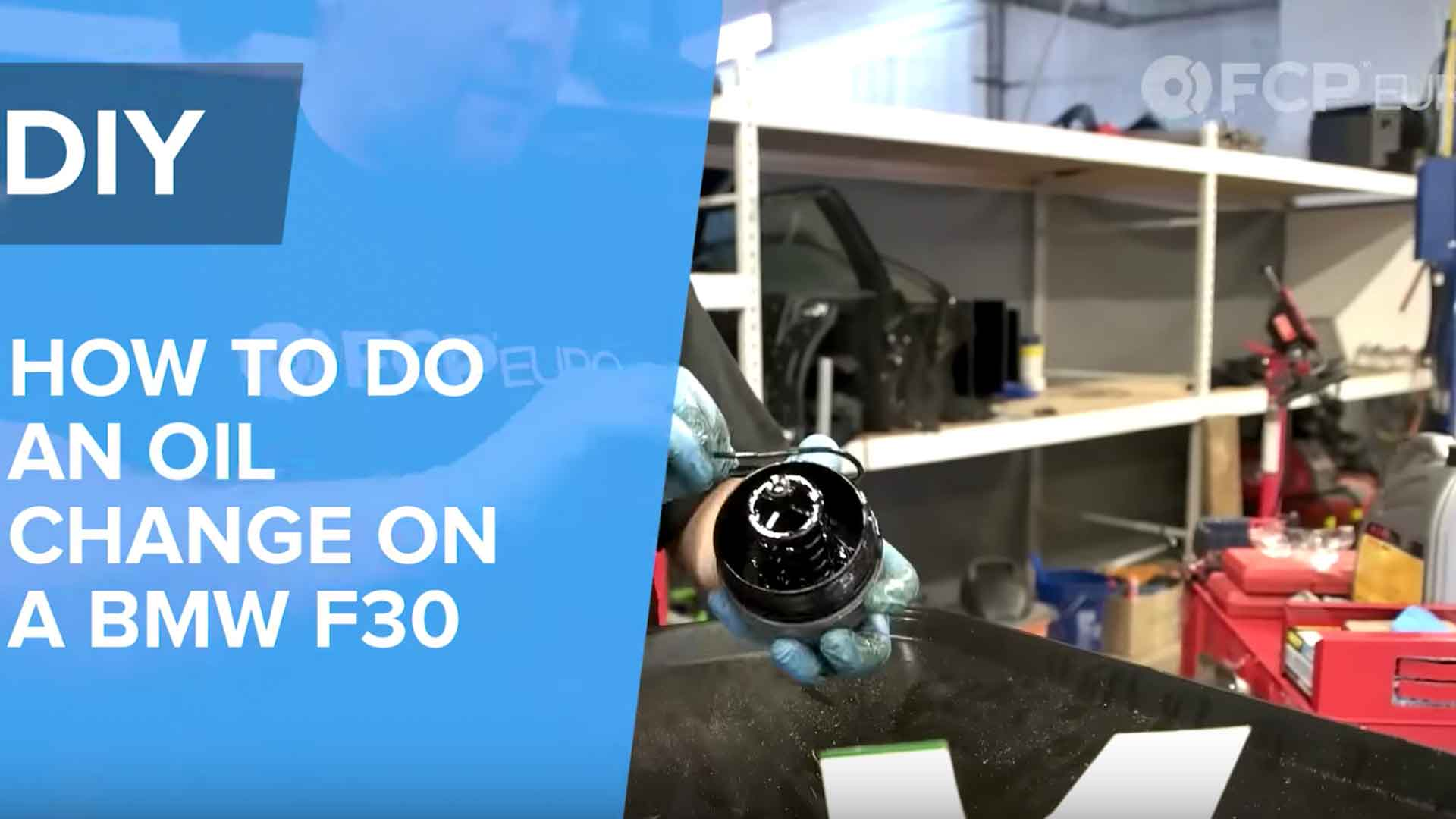 BMW F30 Oil Change