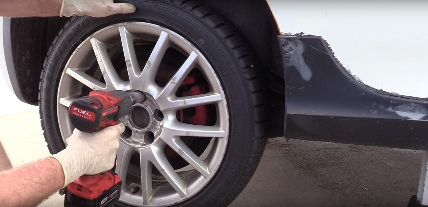 VW Wheel Removal