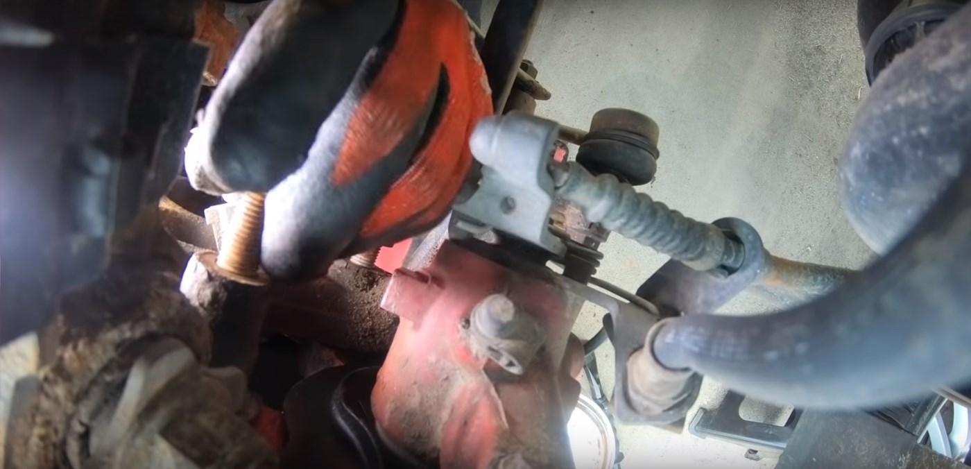 Caliper Hold Down Bracket Installation
