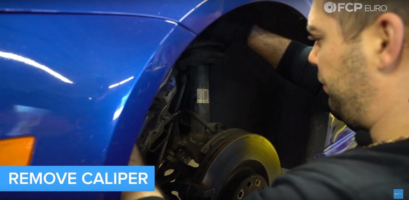 VW DIY Brake Job Caliper Removal
