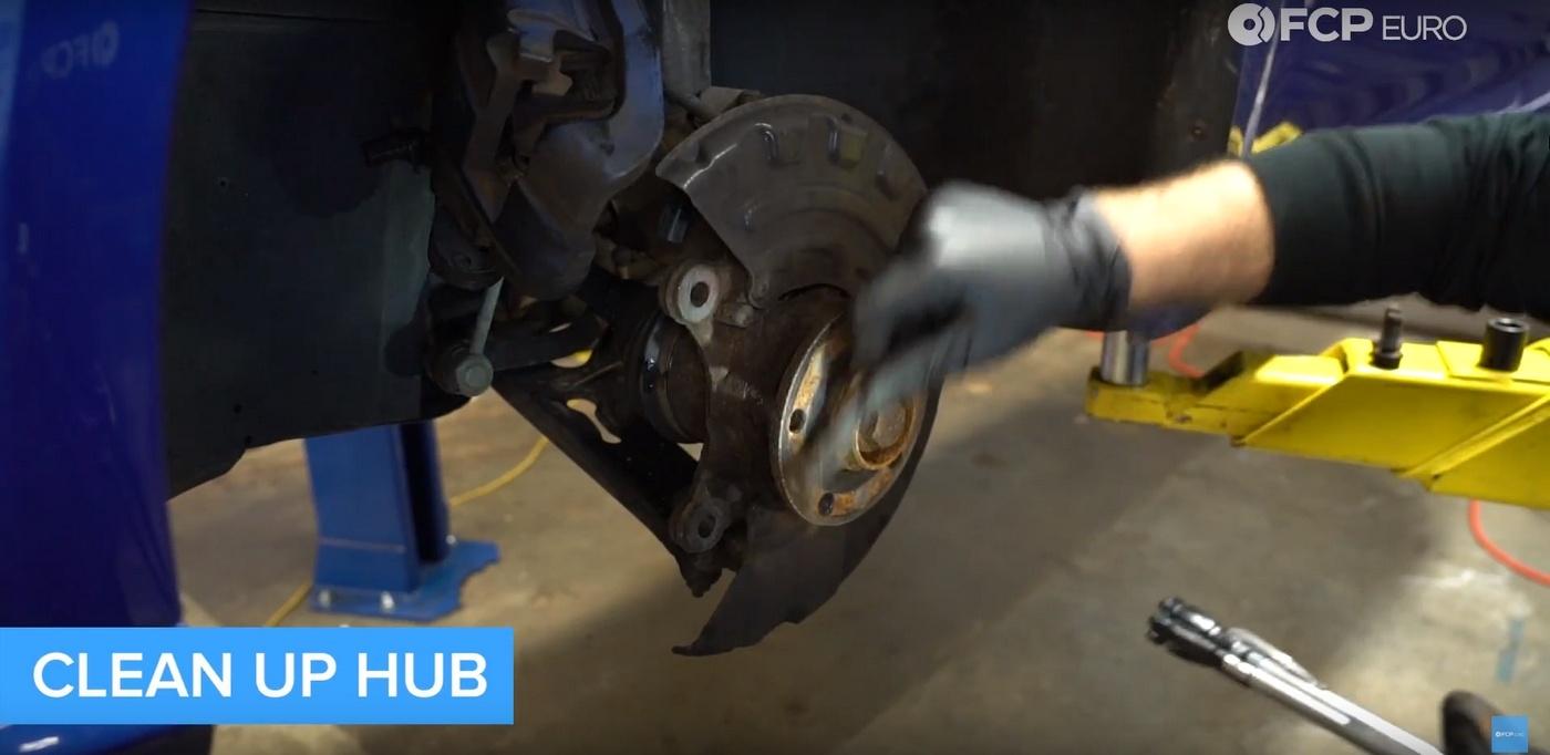 VW DIY Brake Job Hub Cleaning