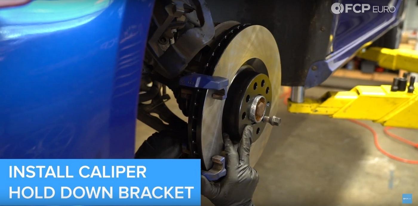 VW DIY Brake Job Hold Down Bracket Install