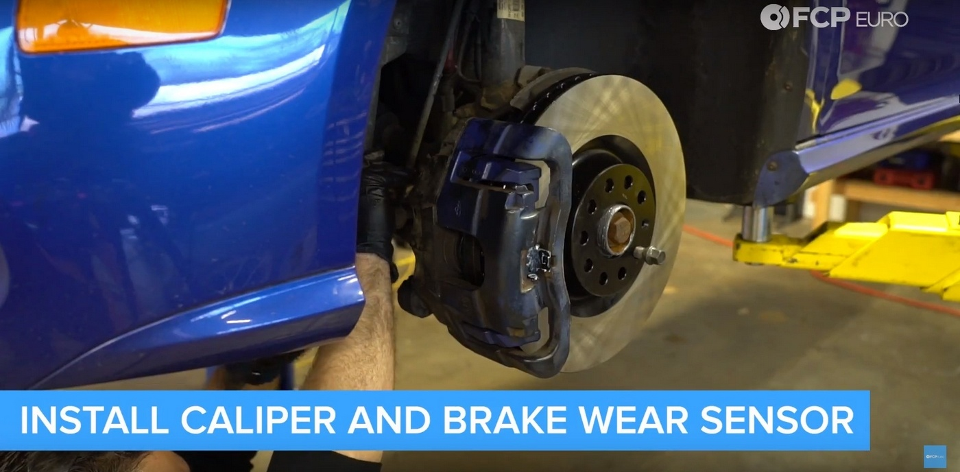 VW DIY Brake Job Caliper Install