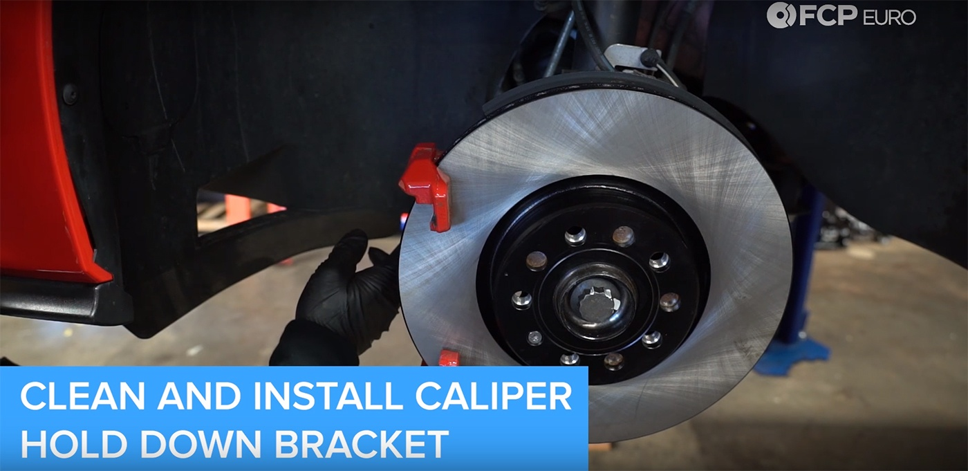 VW Audi Brake Job Caliper Hold Down Bracket Installation