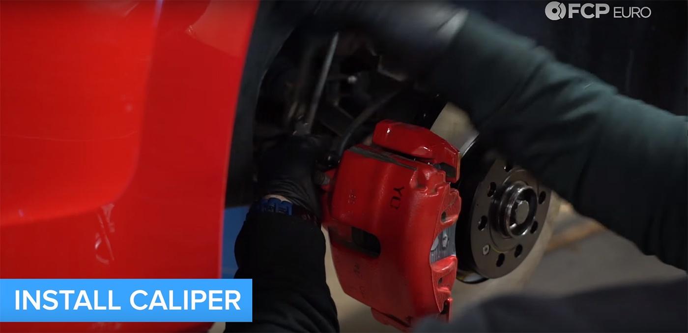 VW Audi Brake Job Caliper Installation
