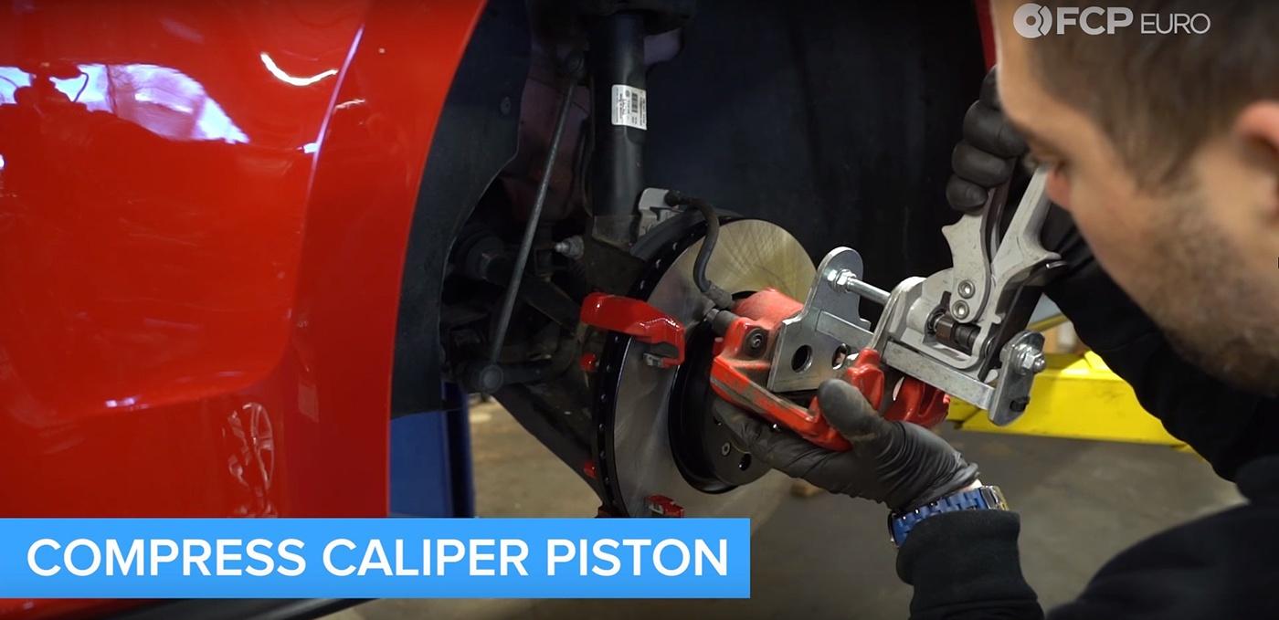 VW Audi Brake Job Caliper Compressor