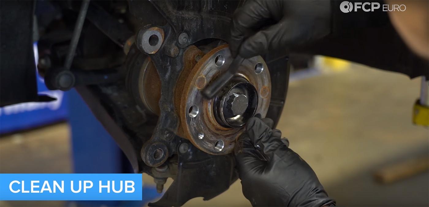 VW Audi Wheel Hub Cleaning