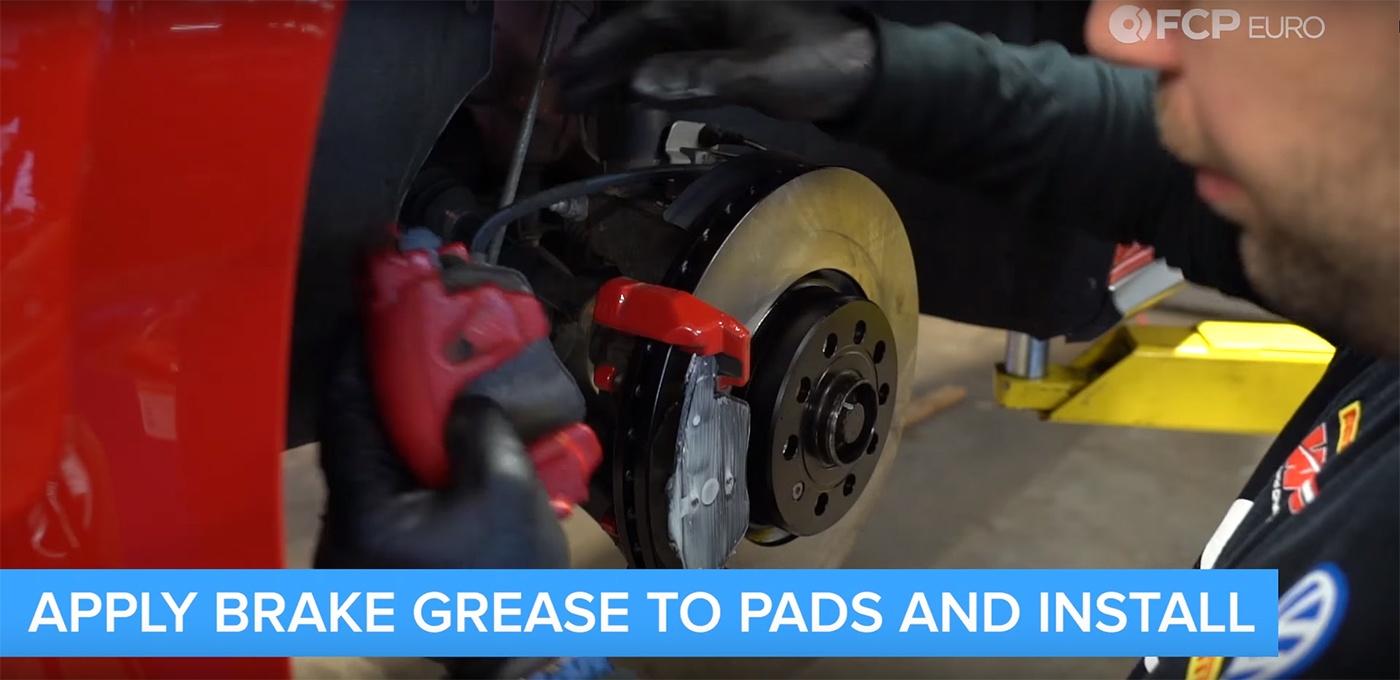 VW Audi Brake Job Brake Pad Installation